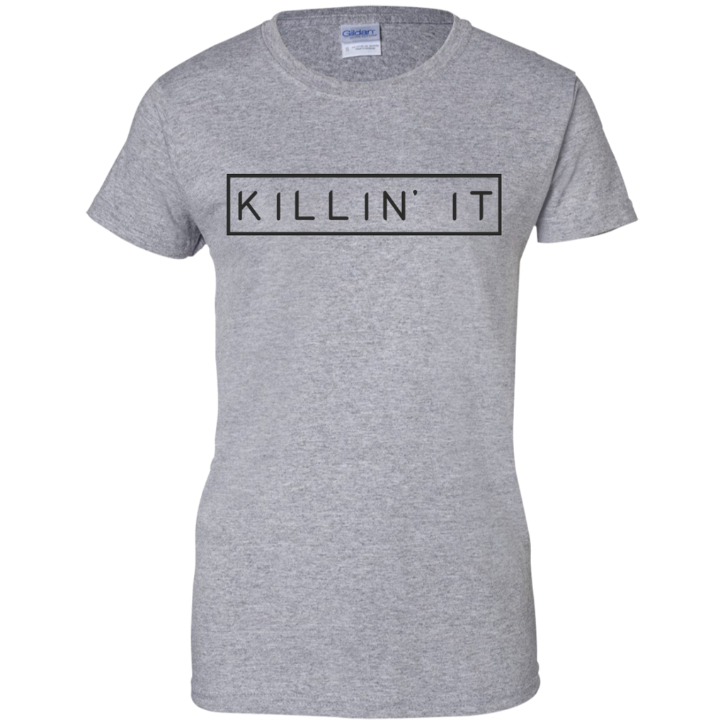 Killin' It Ladies Motivational Quote Custom Cotton T-Shirt - Get Inspired