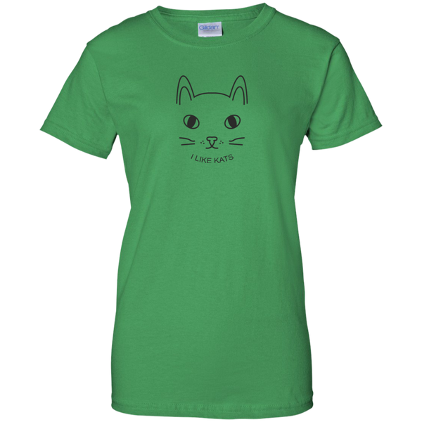 I Like Kats Ladies TShirt - Cat Gifts