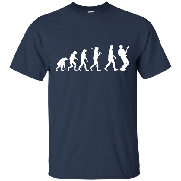 Guitar Evolution T Shirt White Design