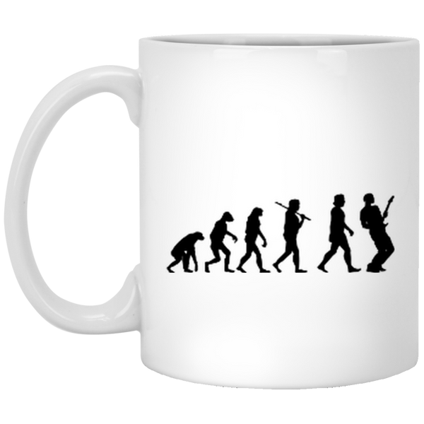 Guitar Evolution Coffee Mug Art Gift for Guitar Player 1