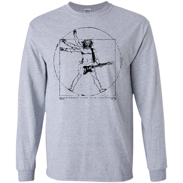 Vitruvian Rocker Guitar Long Sleeve for the Guitar Musicians