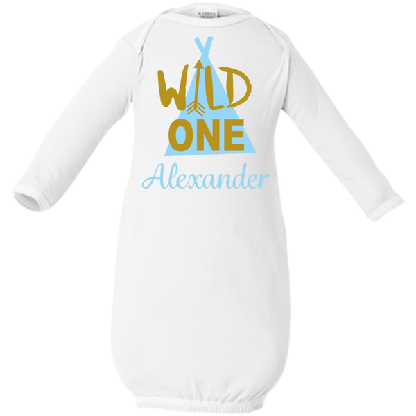Boy Wild One Infant Gown and Shirt Options