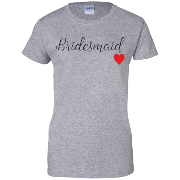 Bridesmaid Tee - Ladies Bridesmaid TShirt - Bridemaid Gifts - Bridesmaid Love