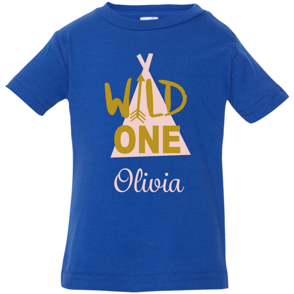 Girl Wild One Infant Gown and Shirt Options