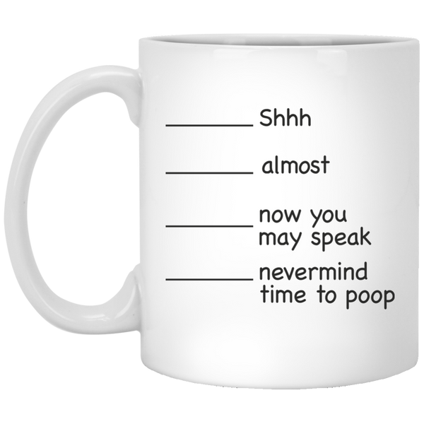 Poop Mug Funny Poop Mug For Dad Time to Poop Gift Idea Funny Mugs for Women Housewarming Gift Quote Quotes Mug Mugs Gifts Cups