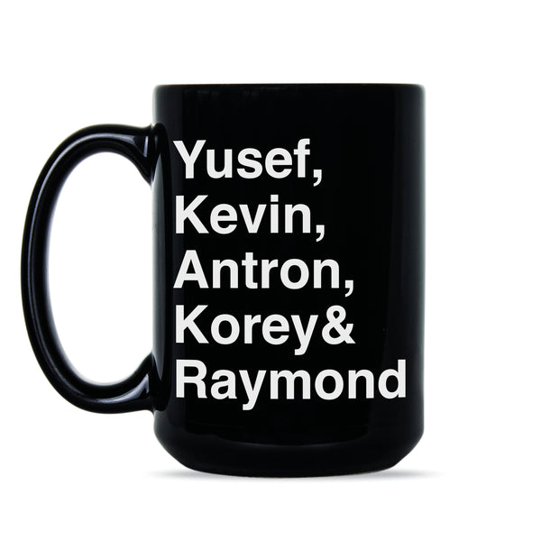 Central Park 5 Mug Yusef Kevin Antron Korey Raymond Central Park Five Coffee Mug