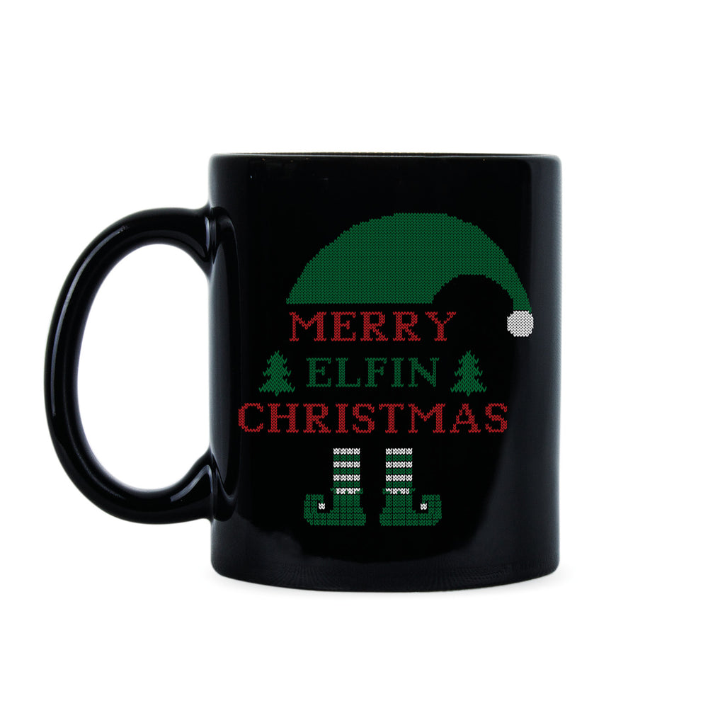Merry Elfin Christmas Mug Elf Christmas Mug Funny Christmas Coffee Mugs