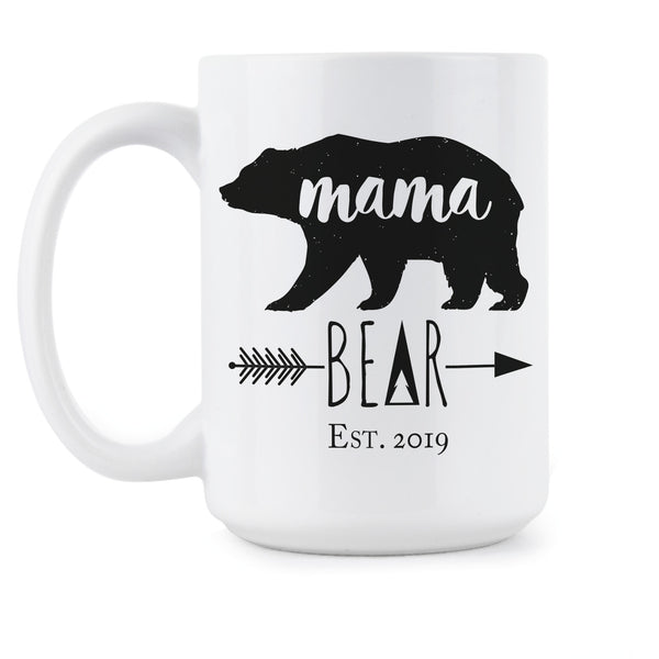 Mama Bear est 2019 Coffee Mug New Mother Mugs Mothers Day Gift Mom Mommy