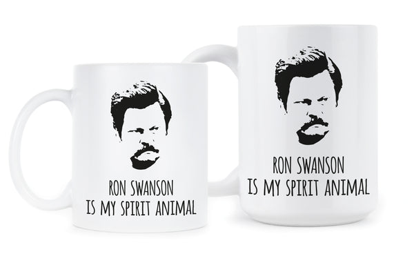 Ron Swanson Is My Spirit Animal Ron Swanson Mug