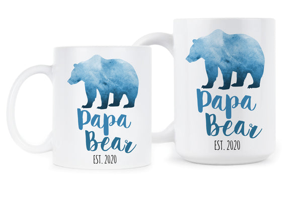 Papa Bear est 2020 Papa Bear Mug New Dad Mug Papa Bear Coffee Mug