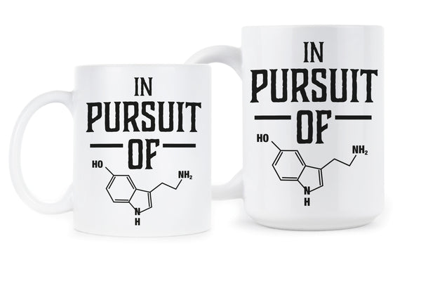 Funny Chemistry Mug Cute Chemistry Mugs In Pursuit of Happiness Chemical