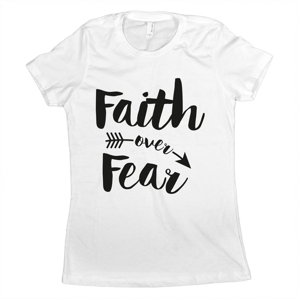 Faith Over Fear T Shirt Spiritual Shirts for Women Faith Over Fear Shirt