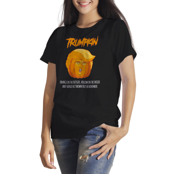 Trumpkin Halloween T-Shirt Anti Trump Halloween Shirt Trump Pumpkin Shirt