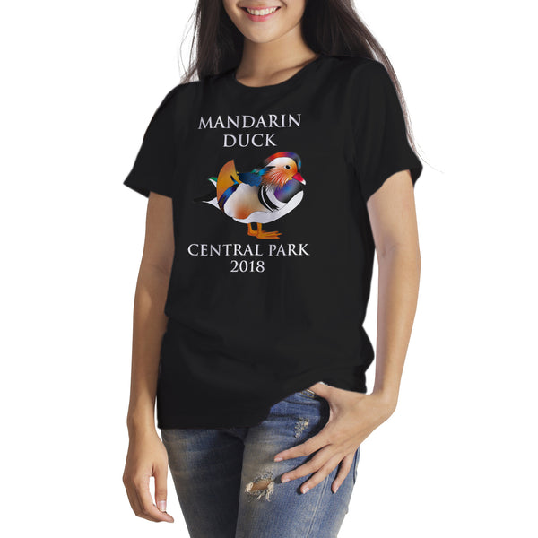 Mandarin Duck Tshirt New York Mandarin Duck Central Park NYC