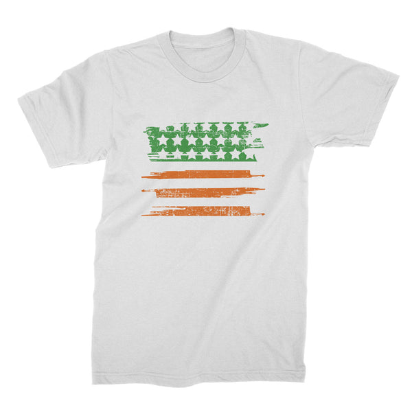 St Patricks Day Flag Shirt American Flag Irish Tshirt St Paddys USA T-Shirt St Paddys Clothing