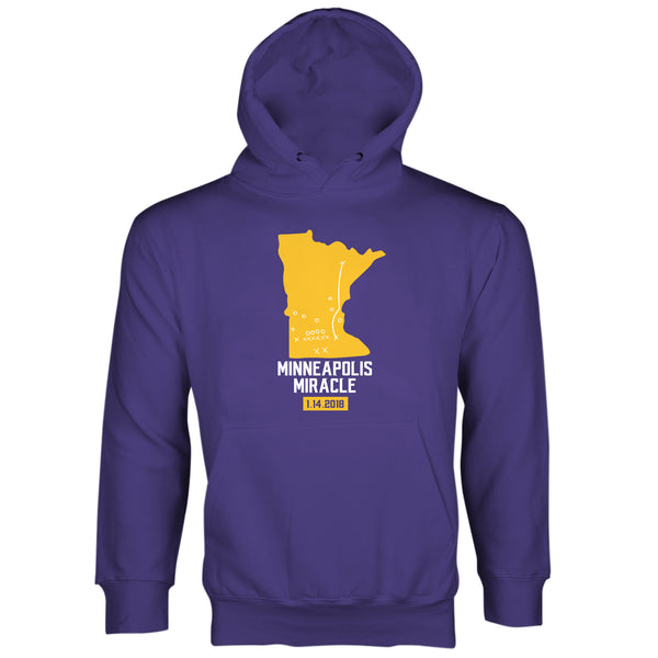 Minneapolis Miracle Sweatshirt Hoodies Vikings Hoodie Skol
