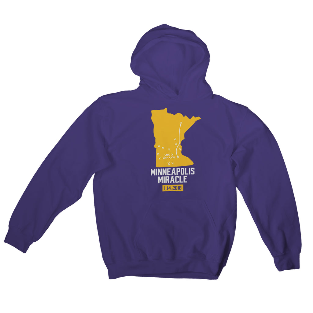 Minneapolis Miracle Hoodie Minnesota Vikings Hoodies Skol Vikings Gift Vikings Playoffs Clothing