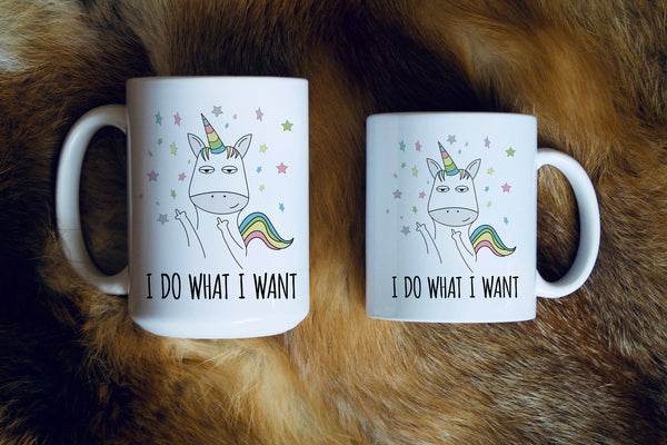 Unicorn I do What I Want Mug