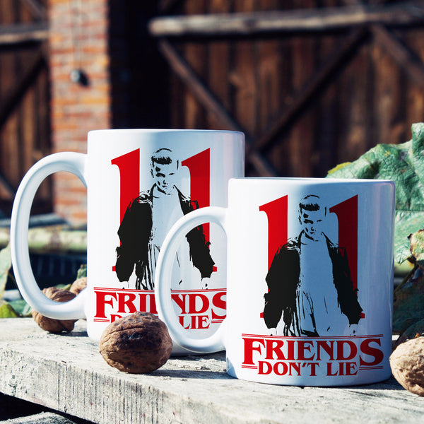 Eleven Mug 11 Friends Don't Lie Coffee Mug Stranger Things Eleven Mugs Gift Eggos Cup