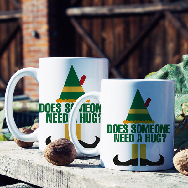 Buddy the Elf Mug Does Someone Need a Hug Coffee Mugs Elf Movie Mug for Christmas
