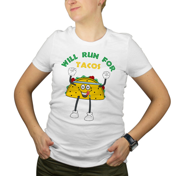 Will Run For Tacos Womens Shirt Cute Taco Shirts For Women
