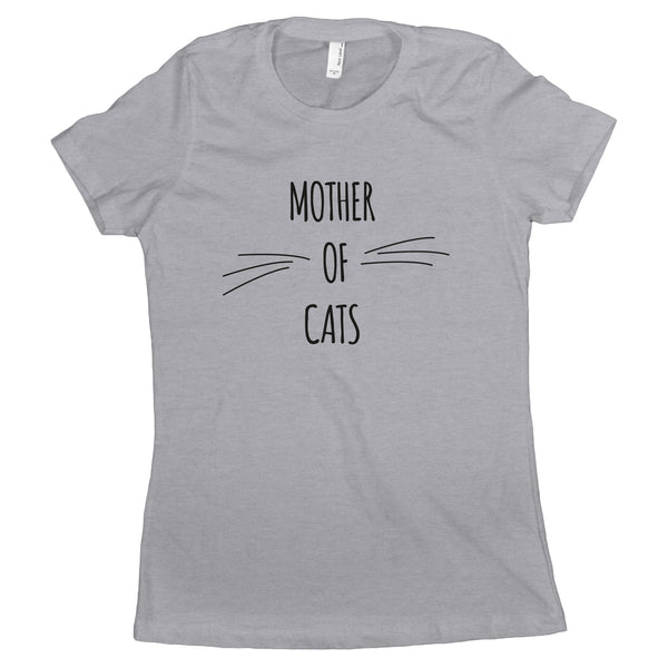 Mother Of Cats Womens Shirt Cat Mom Shirts for Women