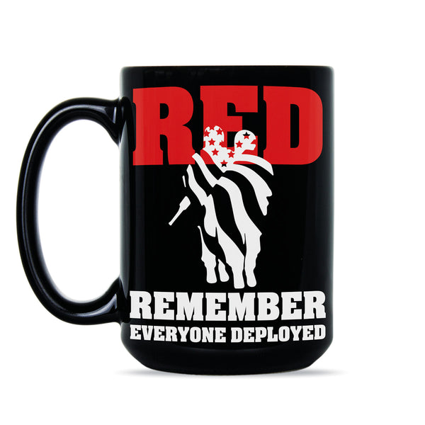 Red Shirt Friday Support Our Troops Coffee Mug Remember Everyone Deployed