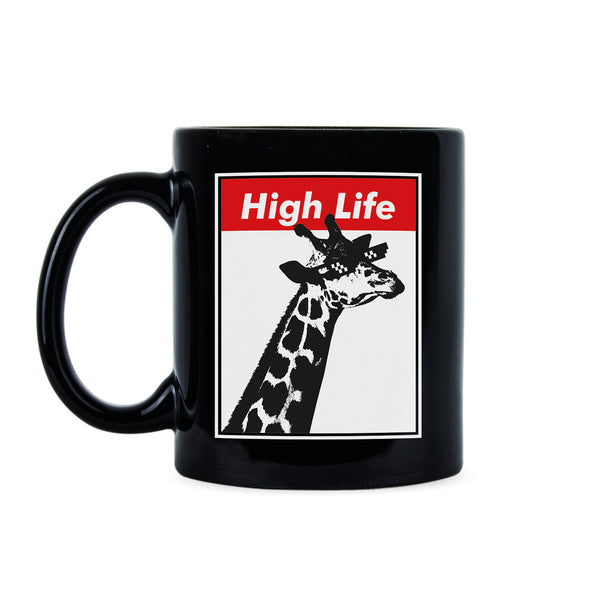 Funny Giraffe Coffee Mug Funny Animal Mugs High Life Giraffe Cup