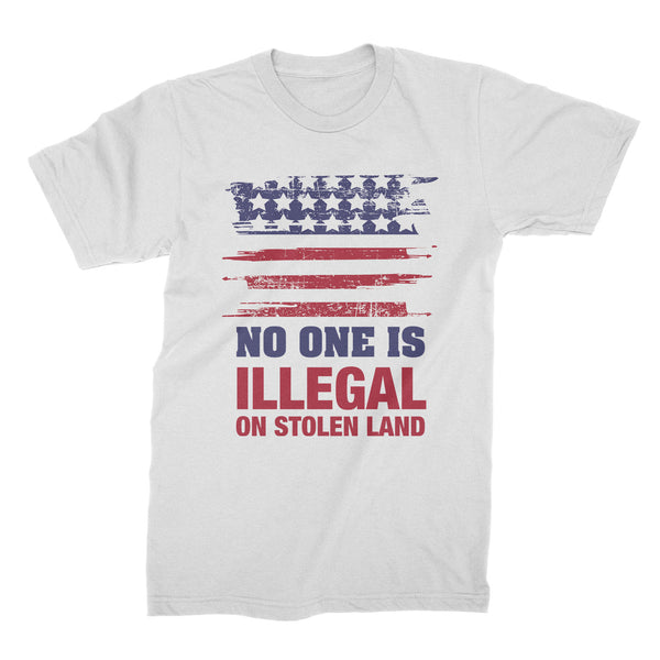 No One Is Illegal Shirt Stolen Land Tshirt Families Belong Together Shirt