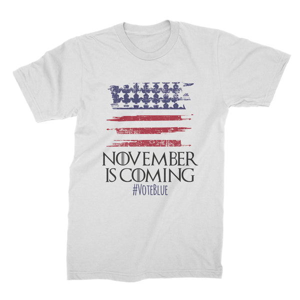 November is Coming Shirt Vote 2018 Midterm Election T-shirt Vote Democrat Tshirt