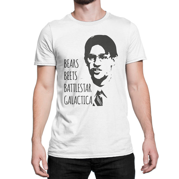 Bears Beets Battlestar Galactica T-Shirt Jim Halpert Office Shirt Dwight Schrute Tee