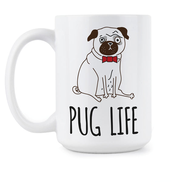 Pug Coffee Mug Pug Life Mugs Cute Pug Lover Cup Gift