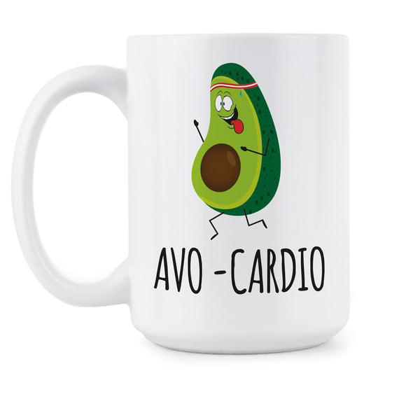 Avo Cardio Mug Avocado Coffee Mugs Cute Avocado Lover Gift Funny Avo-Cardio