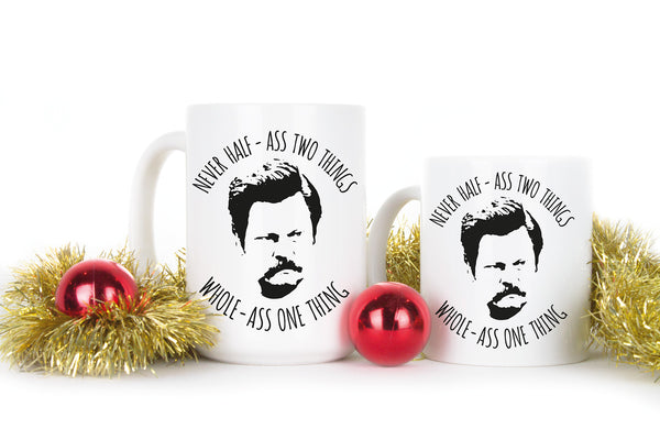 Ron Swanson Mug Whole Ass One Thing Coffee Mugs for Dad Ron Swanson Whole Ass Cup Parks Recreation Gift