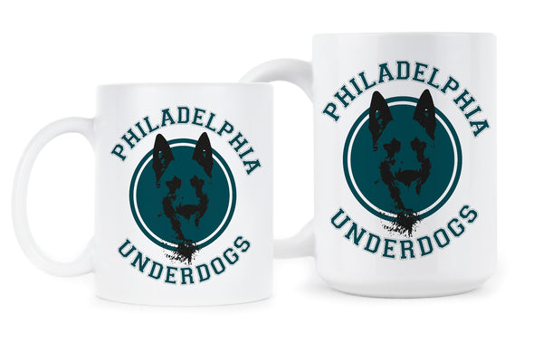Philadelphia Underdogs Mug Philly Underdogs Gift Coffee Mugs Lane Johnson Chris Long Fly Eagles Fly