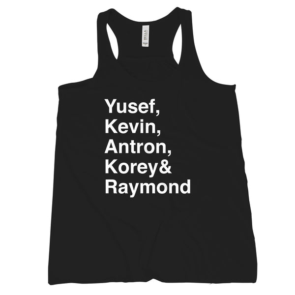Central Park 5 Tank Top Womens Yusef Kevin Antron Korey Raymond Central Park Five Tank
