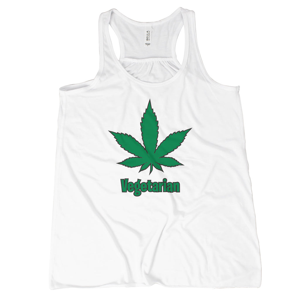 Vegetarian Weed Tank Top Cannabis Tank Top Women