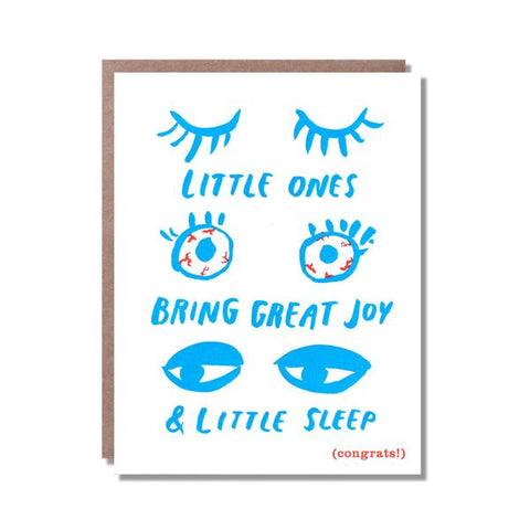 Welcome baby card - Sleepy eyes