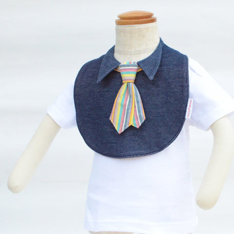 Japan Bib - Tie in rainbow