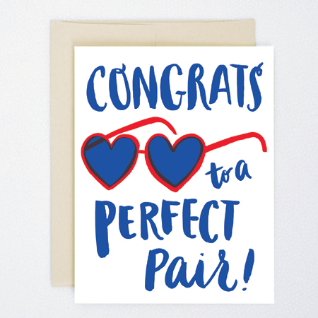 Wedding card - Perfect pair