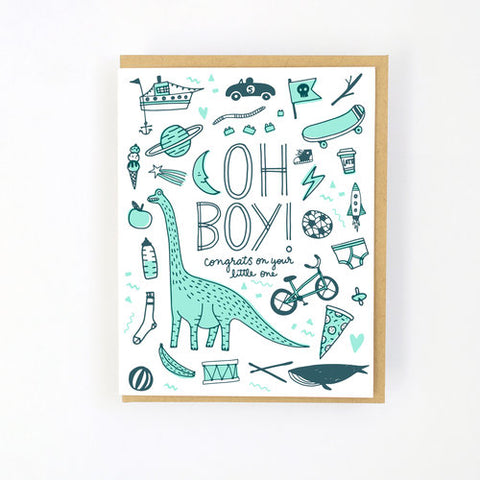 Baby card - Boy things