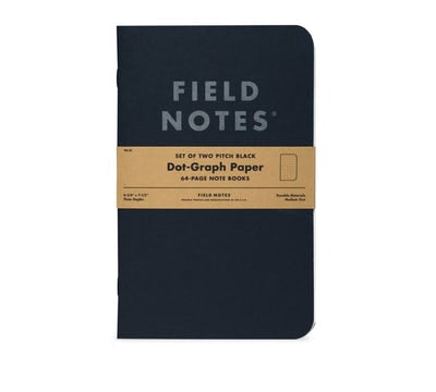 Pitch Black Dot-Graph or Ruled Note Books | Field Notes