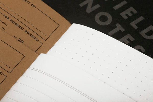 Pitch Black Ruled Memo Books | Field Notes