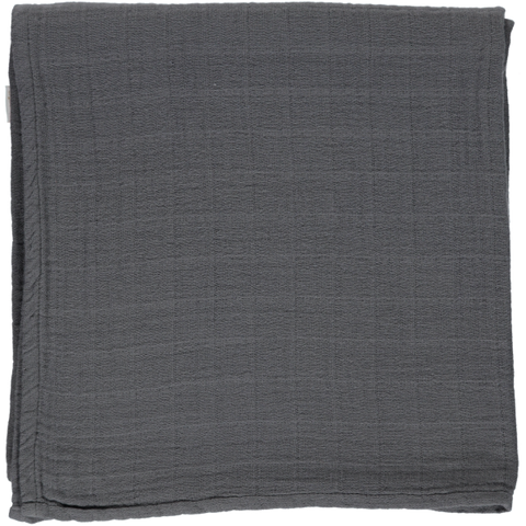 Soft cotton muslin swaddle - Charcoal
