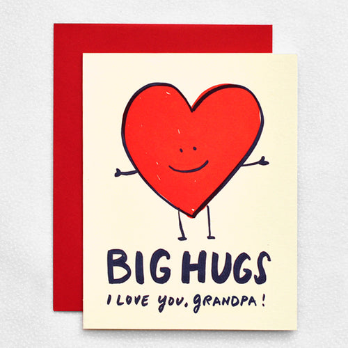 Thank you card - Big hugs to Grandpa