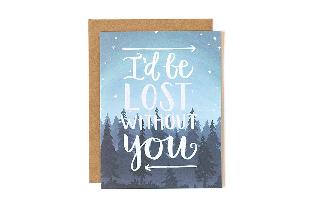 Valentines card - Lost without you