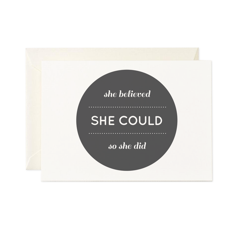 Encouragement card - She could