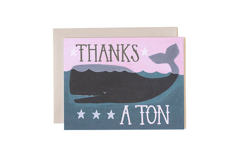 Thank you card - Whale