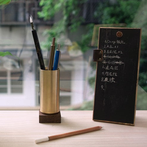 Brass/Wood pen container