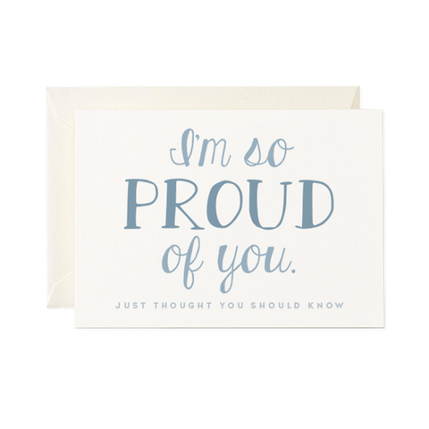 Encouragement card - Proud of you
